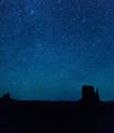Stars over the West Mitten print