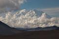 Denali  peaks through the clouds print