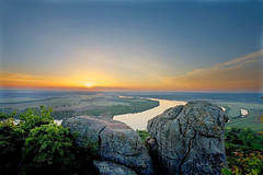 The Arkansas River from Petit Jean