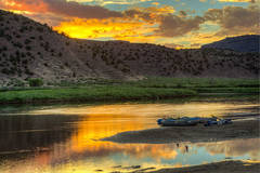 sunset, colorado, green river