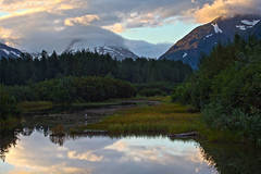 early morning near Portage, Alaska