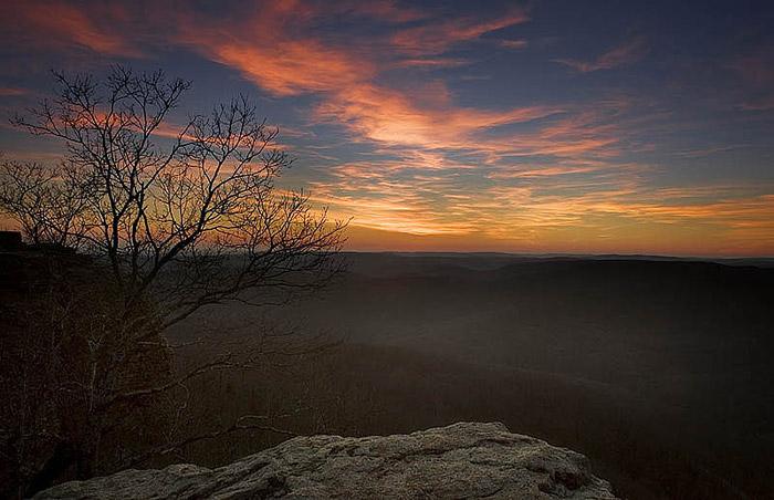 arkansas, sunsets, winter, photo