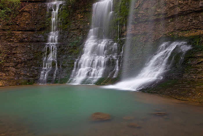 arkansas, waterfalls, green, photo