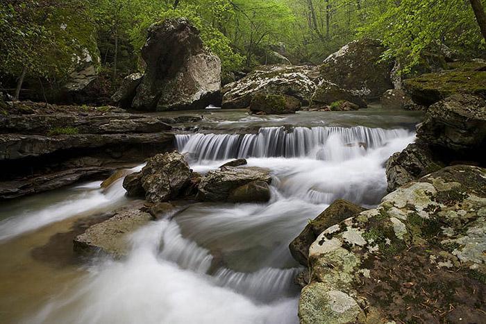 Waterfall, Arkansas, spring, photo