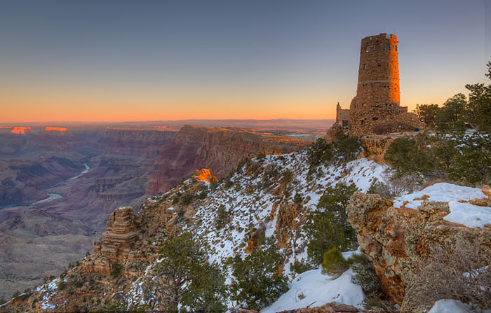 desert view, watch tower, photo