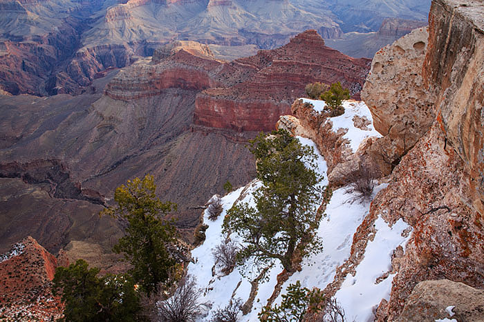 Snow at Mather Point