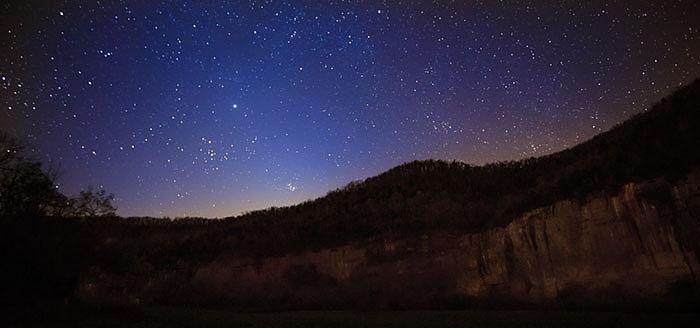 Star over Roark Bluff