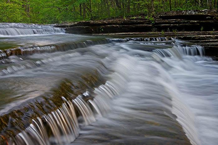 Mountain Creek cascades over multiple drops