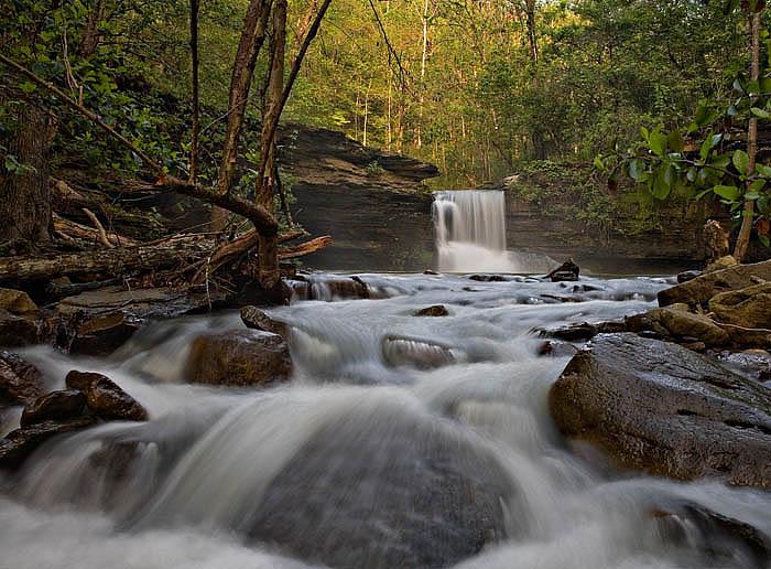 Mountain Fork Creek Falls on Mountain Creek is a bushwack hike from Highway 23