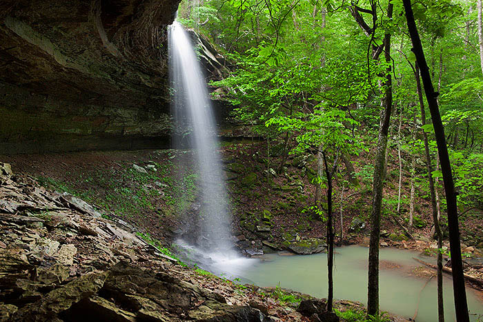 Bingham Hollow Falls is located near the Mulberry River.