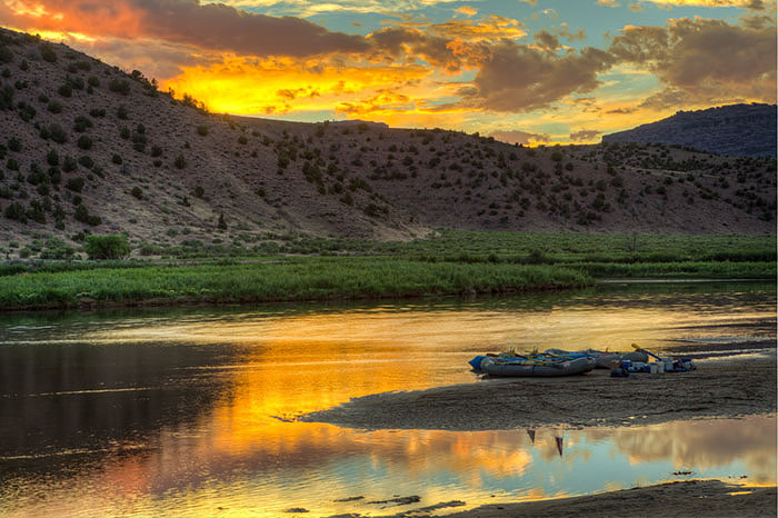 sunset, colorado, green river, photo