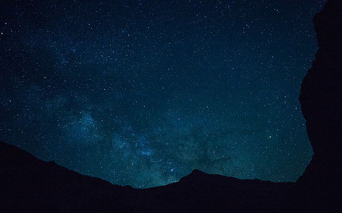 The Milky Way rises over Camp 2