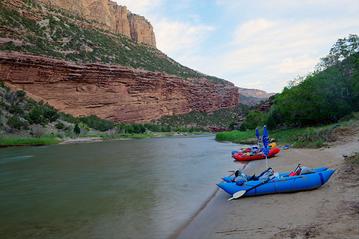 Late afternoon at Limestone Camp on the Green River