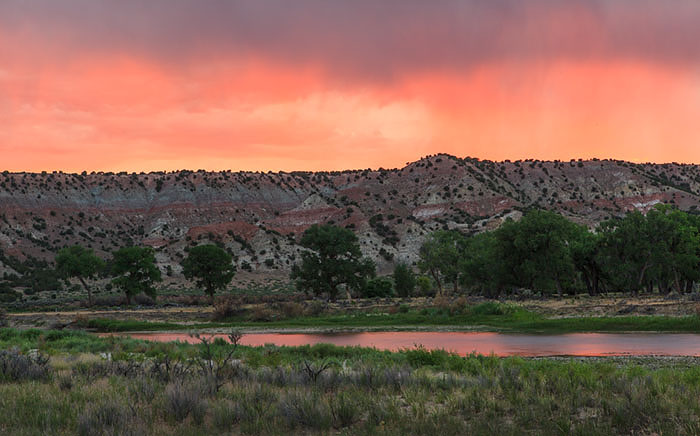 Sunset Green River