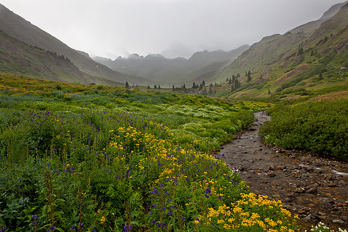 Rain was falling as we were leaving American Basin after a great night camping