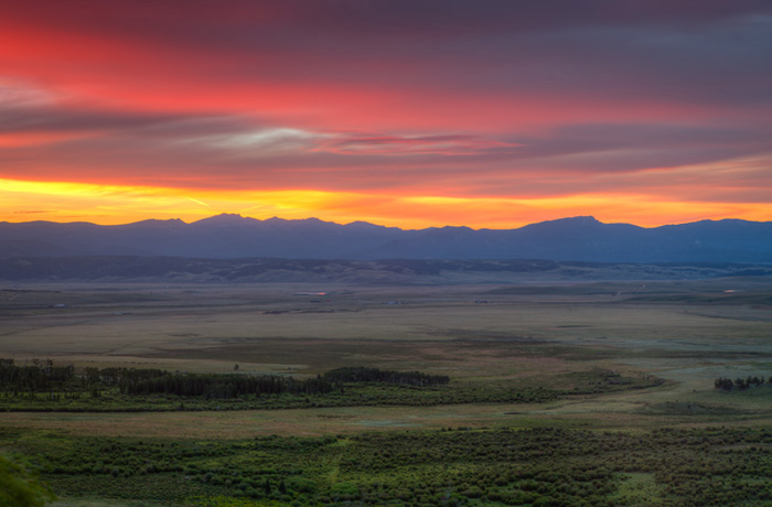 Sunrise over Park County