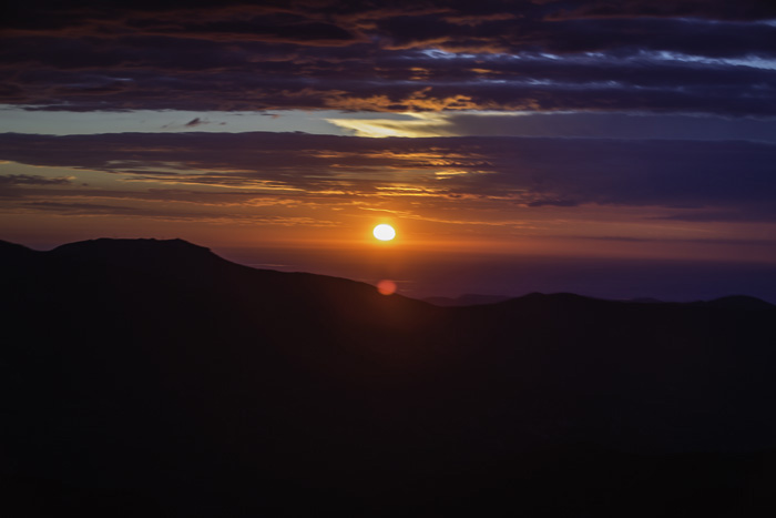 Sunrise from Mount evans