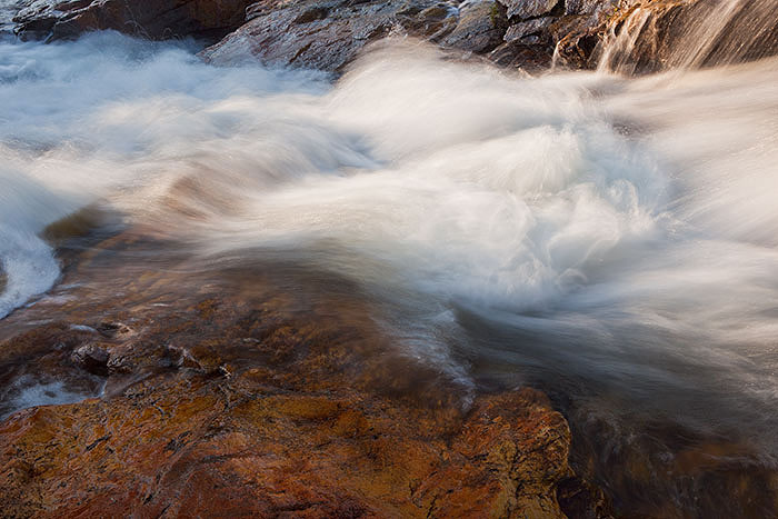 waterfall, colorado, summer