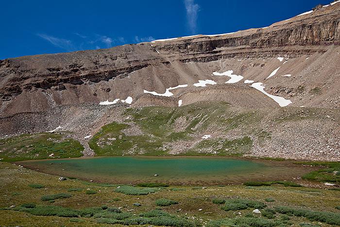 The upper lake at Horseshoe Lake