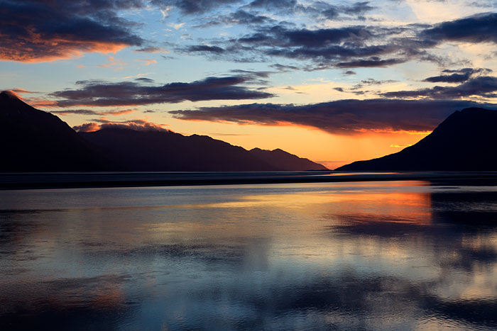 The Turnagain Arm is an extension of Cook inlet and extends approximately 50 miles east of Anchorage.