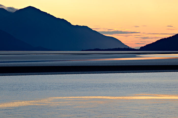 Sunset along the Turnagain Arm
