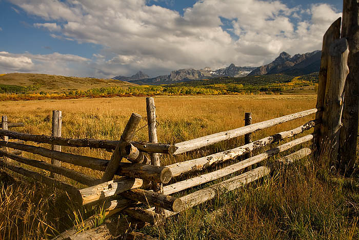 Ranch scene on the Last Dollar near Telluride, Colorado