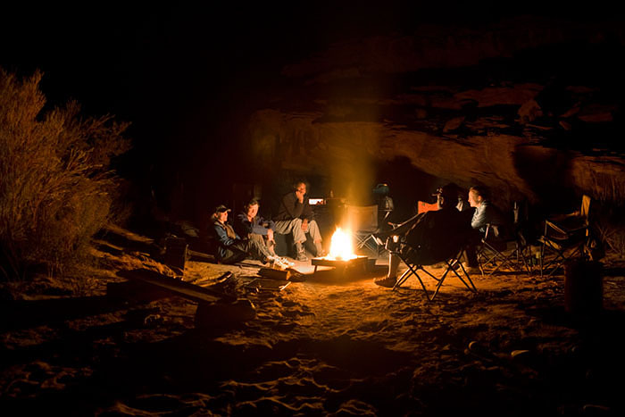 Many stories were told around the campfire about the days adventures.
