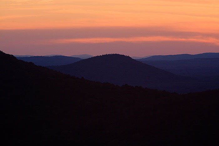 Sunset from Petit Jean State Park