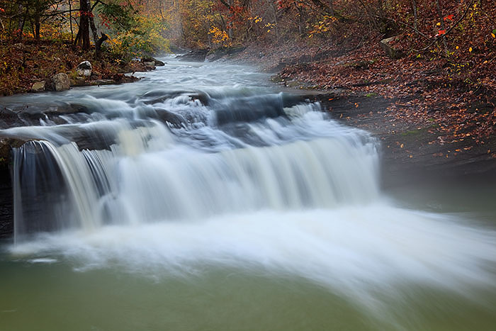 Fall colors on Spirit's  Creek, Ozark National Forest