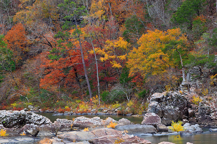 Fall on the Cossatot River